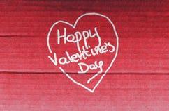 De gelukkige Dag van de Valentijnskaart `s Royalty-vrije Stock Fotografie