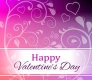 De gelukkige Dag van de Valentijnskaart `s Royalty-vrije Stock Afbeelding