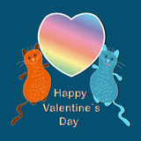 De gelukkige Dag van de Valentijnskaart `s Royalty-vrije Stock Foto