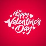 De gelukkige Dag van de Valentijnskaart `s royalty-vrije illustratie