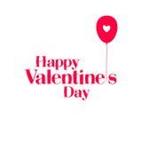 De gelukkige Dag van de Valentijnskaart `s vector illustratie