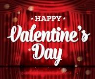De gelukkige Dag van de Valentijnskaart `s Stock Fotografie