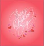 De gelukkige Dag van de Valentijnskaart `s Kalligrafisch element, vakantiekaart Royalty-vrije Stock Foto's