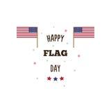 De gelukkige Dag van de Vlag Vector illustratie Stock Foto