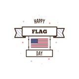 De gelukkige Dag van de Vlag Vector illustratie Stock Fotografie