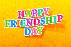 De gelukkige Dag van de Vriendschap Stock Afbeeldingen