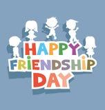De gelukkige Dag van de Vriendschap Stock Afbeelding