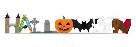 De gelukkige Dag van Halloween royalty-vrije illustratie