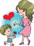De gelukkige Dag van Moeders Royalty-vrije Stock Afbeelding
