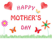 De gelukkige Dag van Moeders Stock Afbeeldingen