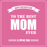 De gelukkige Dag van Moeders De kaart van de Moederdag Stock Fotografie