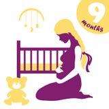 De gelukkige Dag van Moeders motherhood stock illustratie