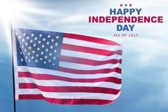 De gelukkige Dag van de Onafhankelijkheid royalty-vrije stock afbeeldingen