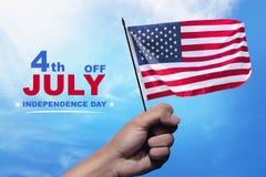 De gelukkige Dag van de Onafhankelijkheid stock fotografie