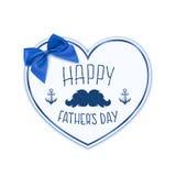 De gelukkige Dag van Vaders Achtergrond met document hart royalty-vrije illustratie