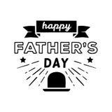 De gelukkige Dag van Vaders lettering Vector graphhics stock afbeeldingen