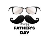 De gelukkige Dag van Vaders uitstekende retro groetkaart voor Vadersdag Stock Foto's