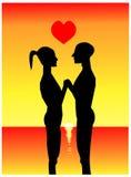 De gelukkige Dag van de Valentijnskaart `s stock illustratie