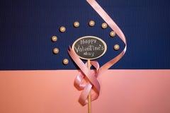 De gelukkige Dag van de Valentijnskaart `s royalty-vrije stock afbeeldingen