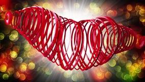 De gelukkige Dag van de Valentijnskaart `s Videogroeten aan de Dag van Valentine ` s In het centrum van een rood hart 4K vector illustratie