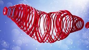 De gelukkige Dag van de Valentijnskaart `s Videogroeten aan de Dag van Valentine ` s In het centrum van een rood hart 4K royalty-vrije illustratie