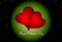 De gelukkige Dag van Valentijnskaarten Royalty-vrije Stock Foto's
