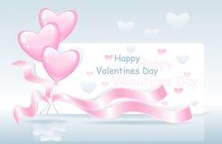 De gelukkige Dag van Valentijnskaarten Stock Afbeelding