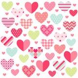 De gelukkige Dag van Valentijnskaarten royalty-vrije illustratie