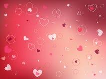 De gelukkige Dag van Valentijnskaarten Stock Foto's