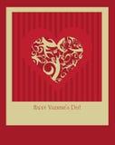 De gelukkige Dag van Valentijnskaarten Stock Foto
