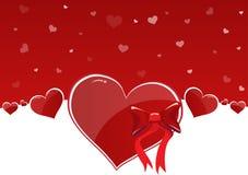 De gelukkige Dag van Valentijnskaarten Stock Fotografie