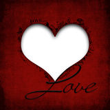 De gelukkige Dag van Valentijnskaarten. De achtergrond van Grunge met hart Royalty-vrije Stock Afbeelding