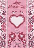 De gelukkige Dag van Valentijnskaarten! De kaart van de vakantie. Stock Fotografie