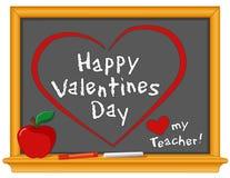De gelukkige Dag van Valentijnskaarten, houdt van Mijn Leraar Royalty-vrije Stock Afbeelding