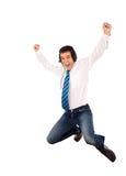 De gelukkige dans van de bevordering royalty-vrije stock foto