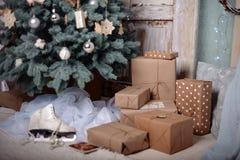 De gelukkige Decoratie van het Nieuwjaar De vrolijke Decoratie van Kerstmis Royalty-vrije Stock Foto