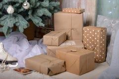 De gelukkige Decoratie van het Nieuwjaar De vrolijke Decoratie van Kerstmis Stock Foto's