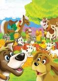 Het leven op het landbouwbedrijf - illustratie voor de kinderen Stock Foto