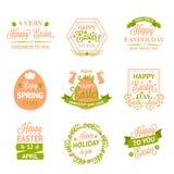 De gelukkige etiketten, de emblemen en de kentekens van Pasen royalty-vrije illustratie