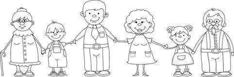 De gelukkige familieholding overhandigt vector Stock Foto's