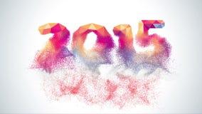 De gelukkige gemaakte video van de Nieuwjaar 2015 kleurrijke groet stock videobeelden