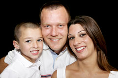 De gelukkige Gezichten van de Familie royalty-vrije stock foto
