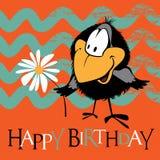De gelukkige glimlach van Verjaardagsvogels vector illustratie