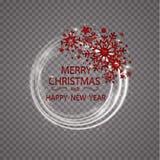 De gelukkige gouden de groetkaart van Nieuwjaar Vrolijke Kerstmis schittert decoratie het ornament van de groetkaart van cirkel e Royalty-vrije Stock Foto
