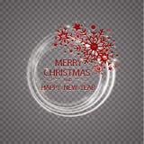 De gelukkige gouden de groetkaart van Nieuwjaar Vrolijke Kerstmis schittert decoratie het ornament van de groetkaart van cirkel e Stock Foto's