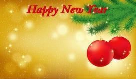 De gelukkige Gouden VectorAchtergrond van het Nieuwjaar Royalty-vrije Stock Foto's