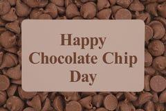 De gelukkige groet van Chocoladechip day Royalty-vrije Stock Foto