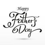 De gelukkige groet van de Vadersdag Van letters voorziende Kaart Vectorachtergrond met krabbelstropdassen, vlinderdas en glazen Royalty-vrije Stock Afbeeldingen