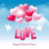 De gelukkige groet van de valentijnskaartendag Stock Afbeeldingen