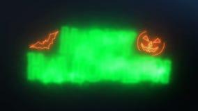De gelukkige Halloween-Donkere Achtergrond van de Lijnanimatie stock footage